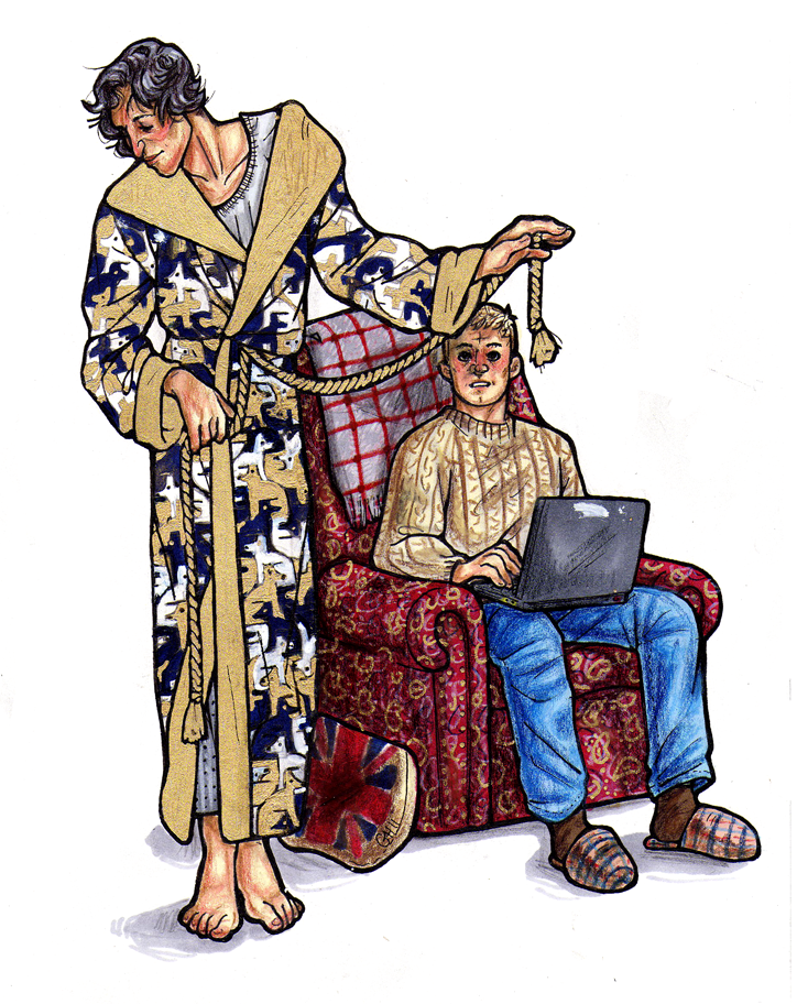 Sherlock, John, and the Dressing Gown